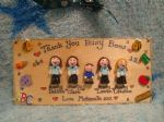 LGE 5 CHARACTER 3D PERSONALISED TEACHER PLAYGROUP NURSERY THANK YOU GIFT SCHOOL CLASSROOM SIGN